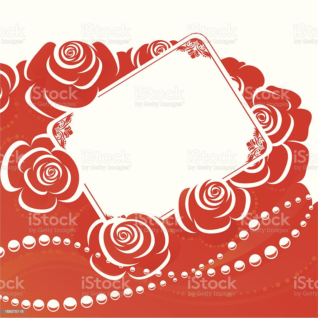 Roses and pearl royalty-free stock vector art
