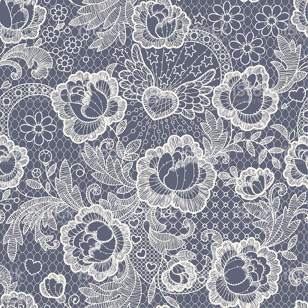 Roses Seamless Pattern vector art illustration