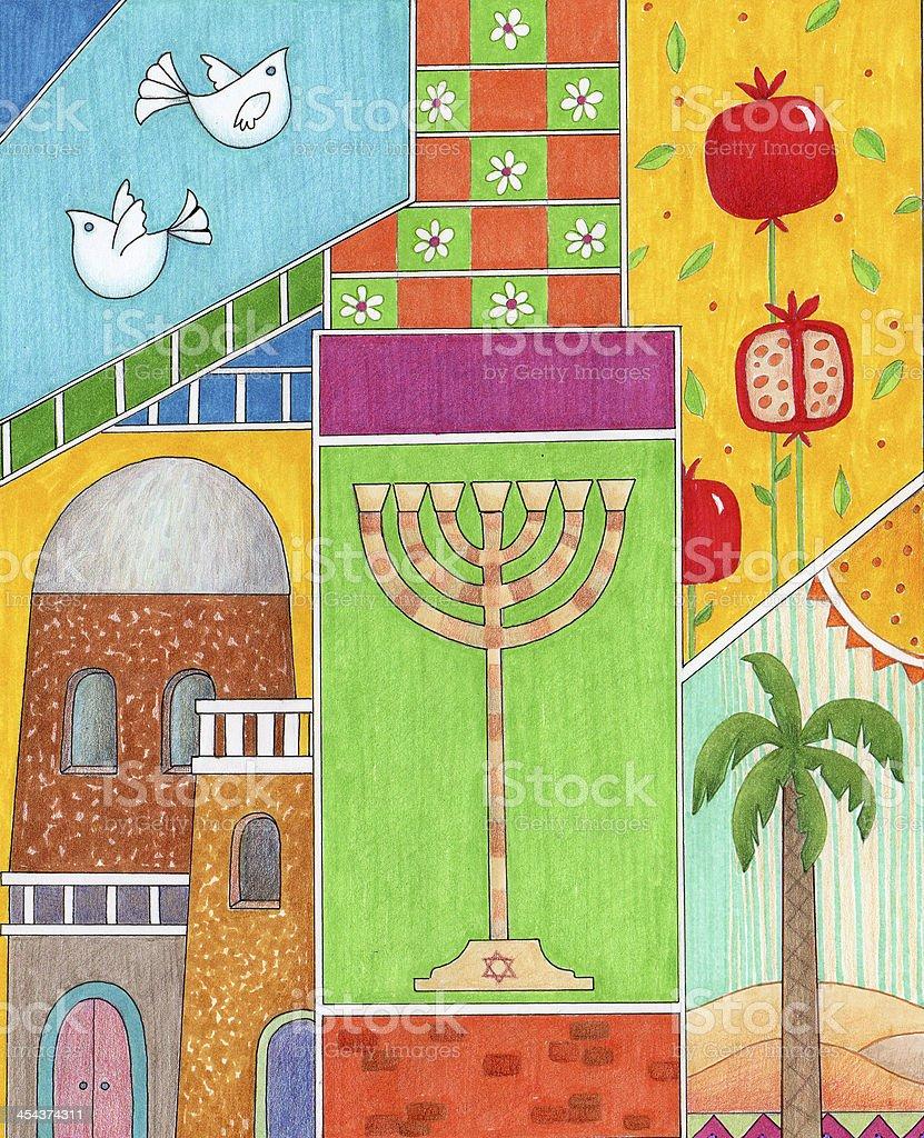 Rosh Hashanah Greeting royalty-free stock vector art