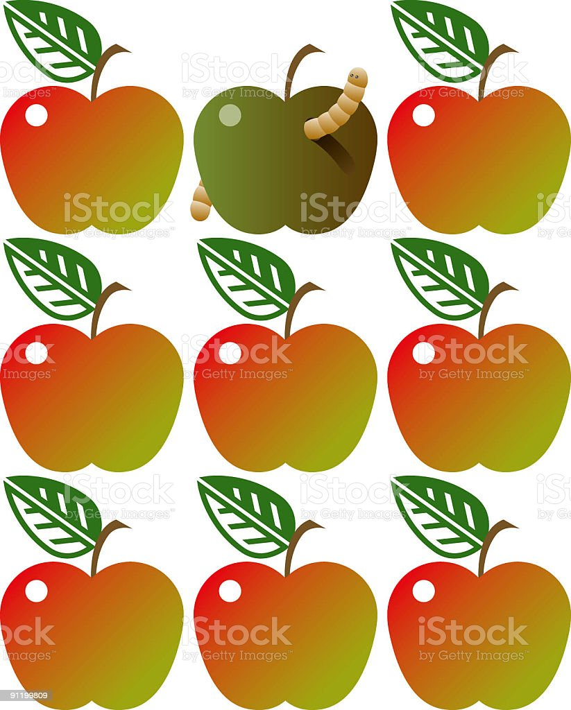 Rotten apple royalty-free stock vector art