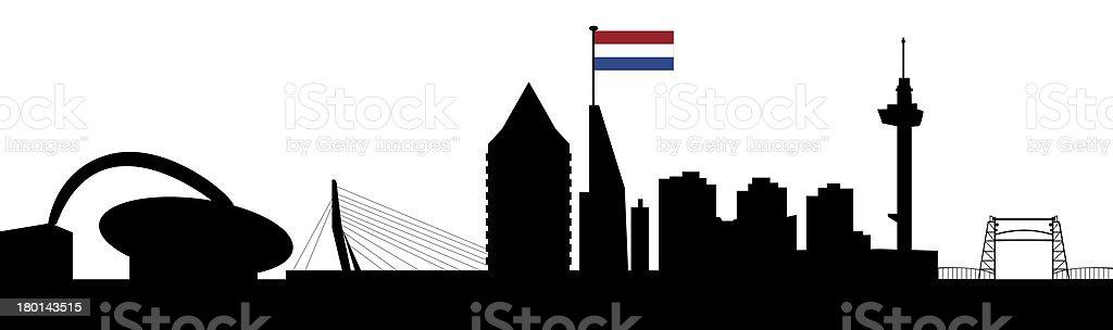 rotterdam skyline royalty-free stock vector art