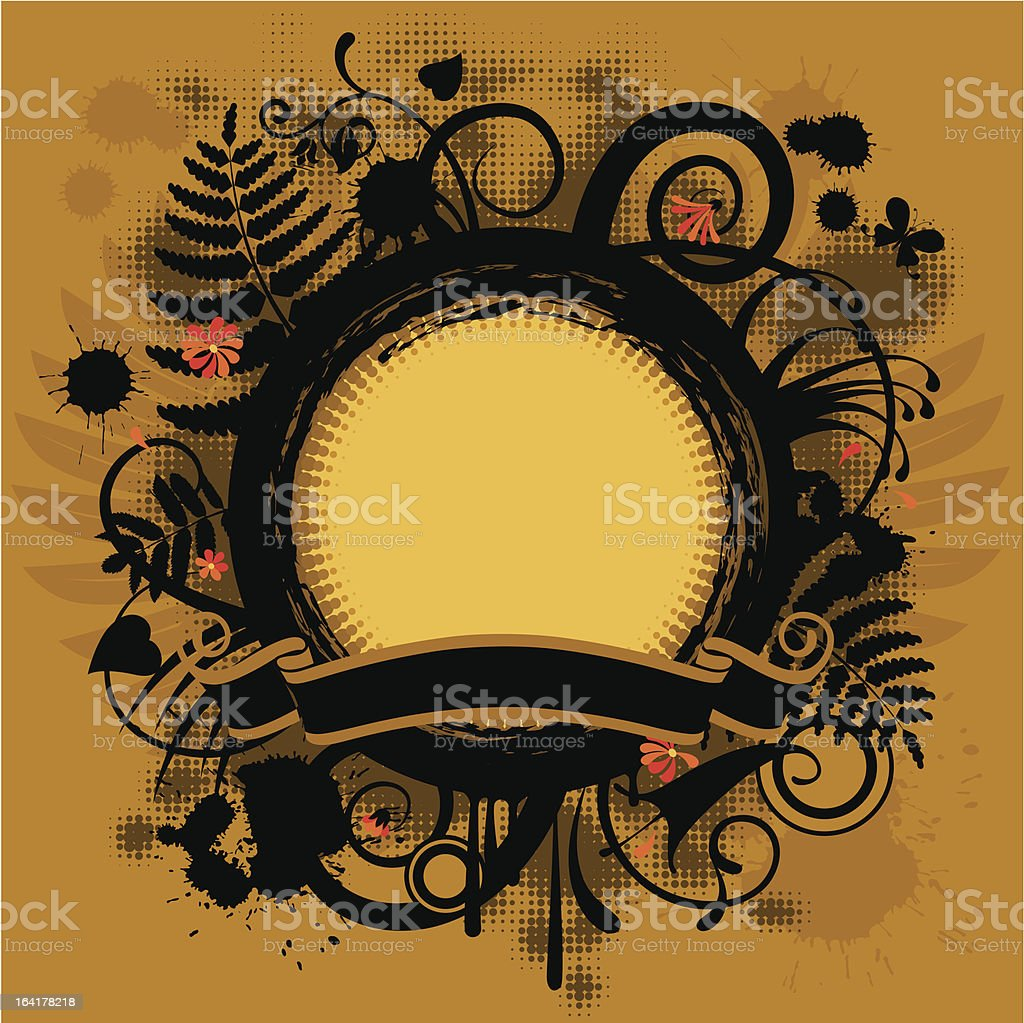 Round banner royalty-free stock vector art