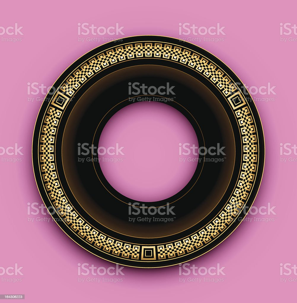 Round frame royalty-free stock vector art