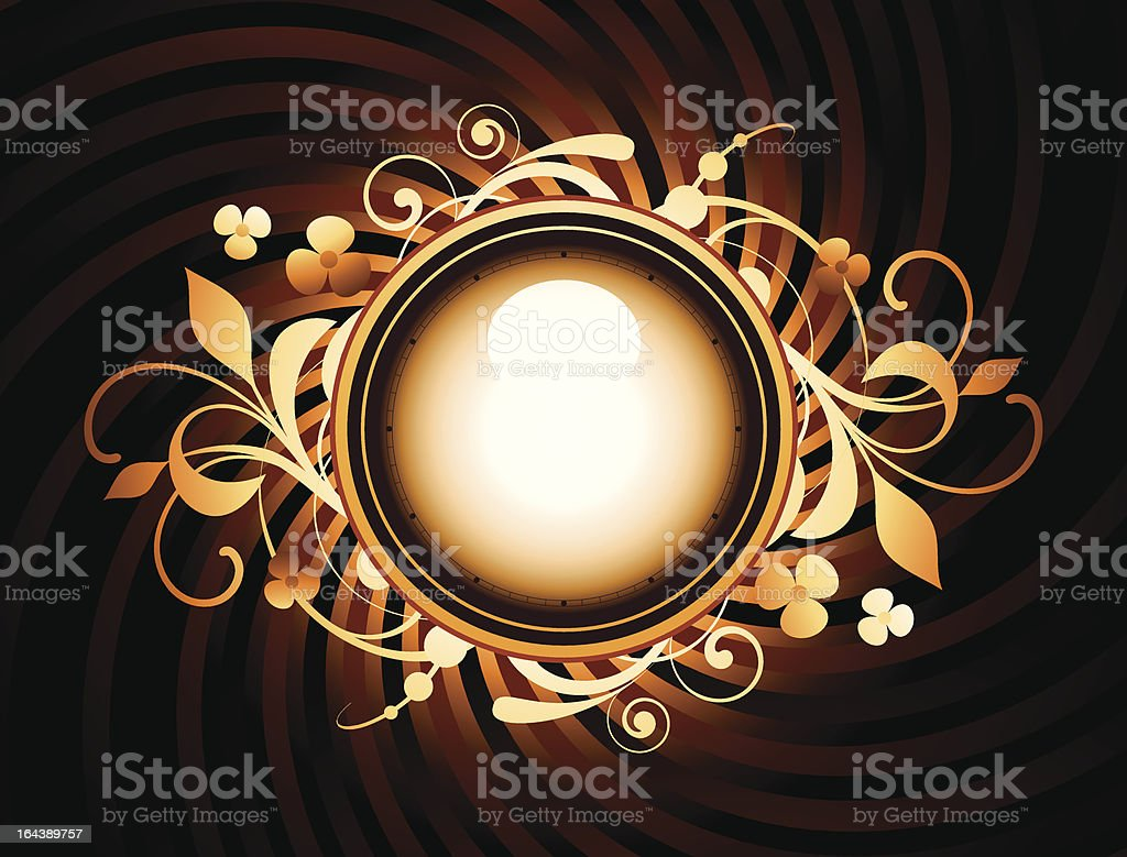 Round frame with design elements royalty-free stock vector art