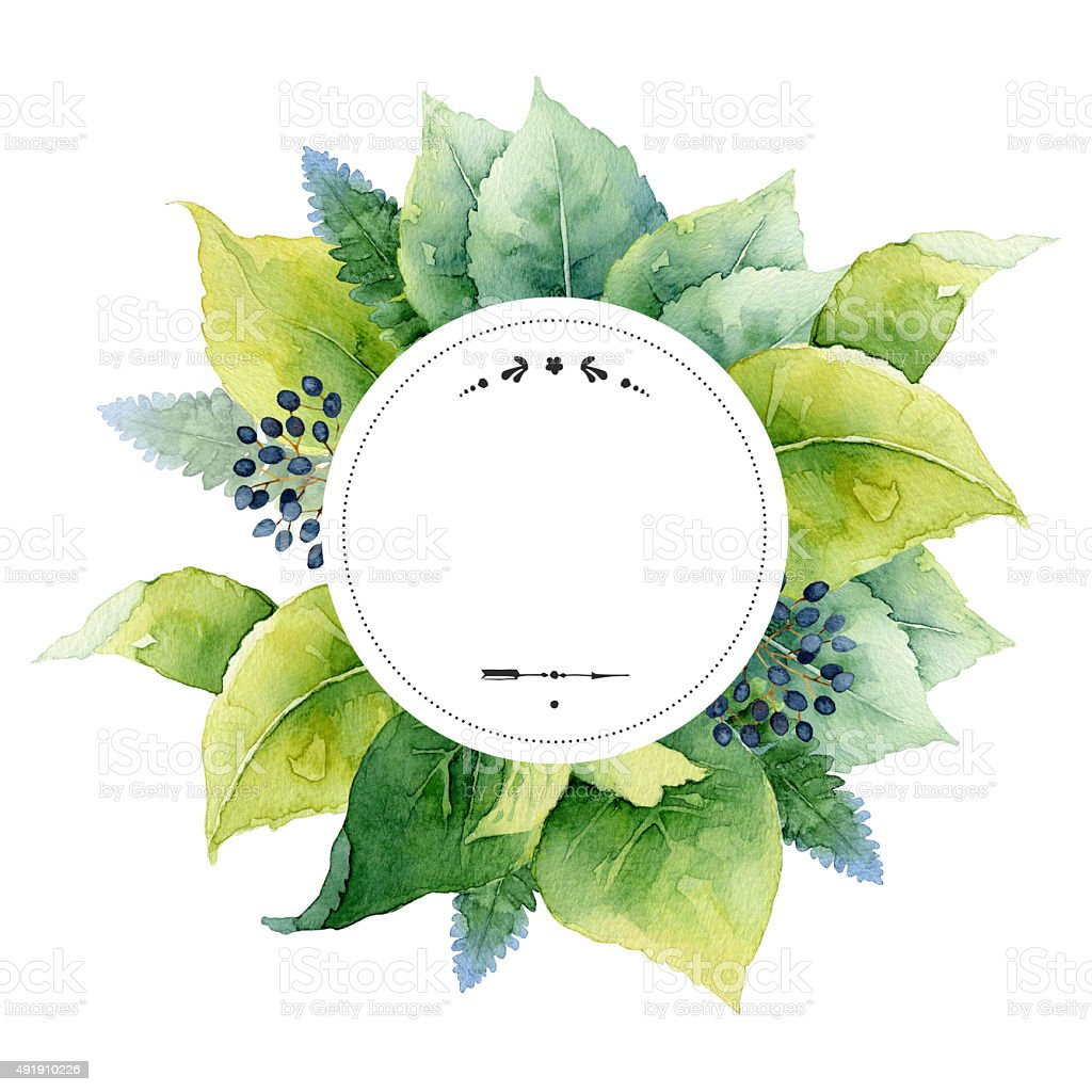 Round template vector art illustration