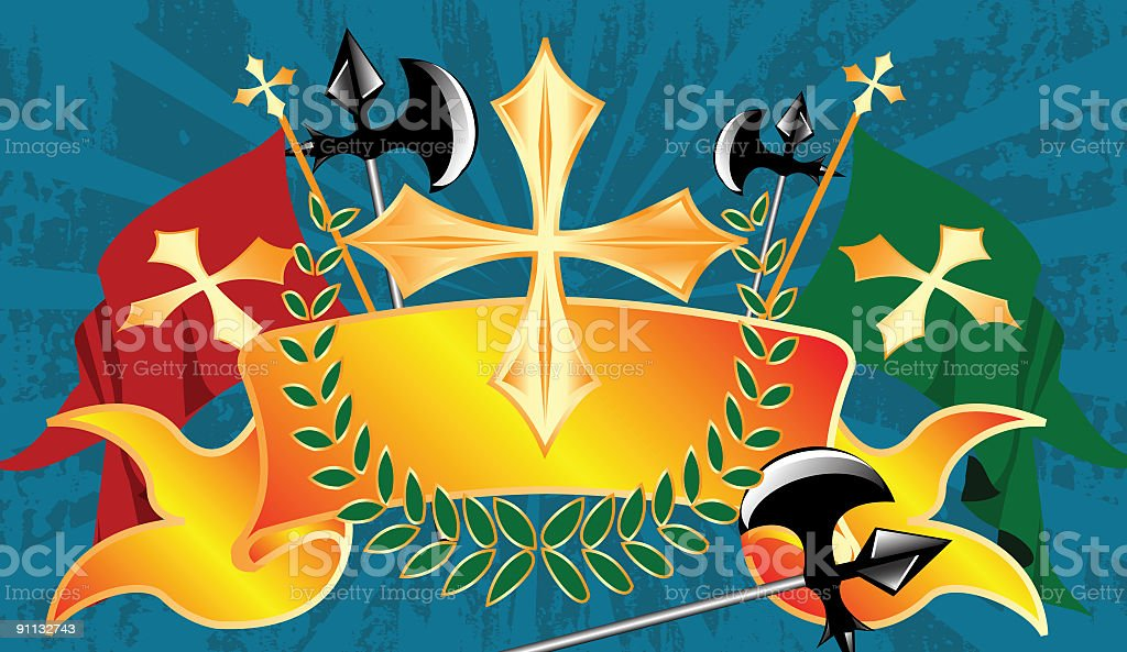 Royal Banner Series 04 royalty-free stock vector art