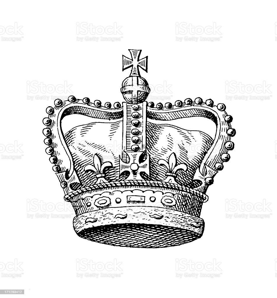 Royal Crown of the United Kingdom | Historic Monarchy Symbols vector art illustration