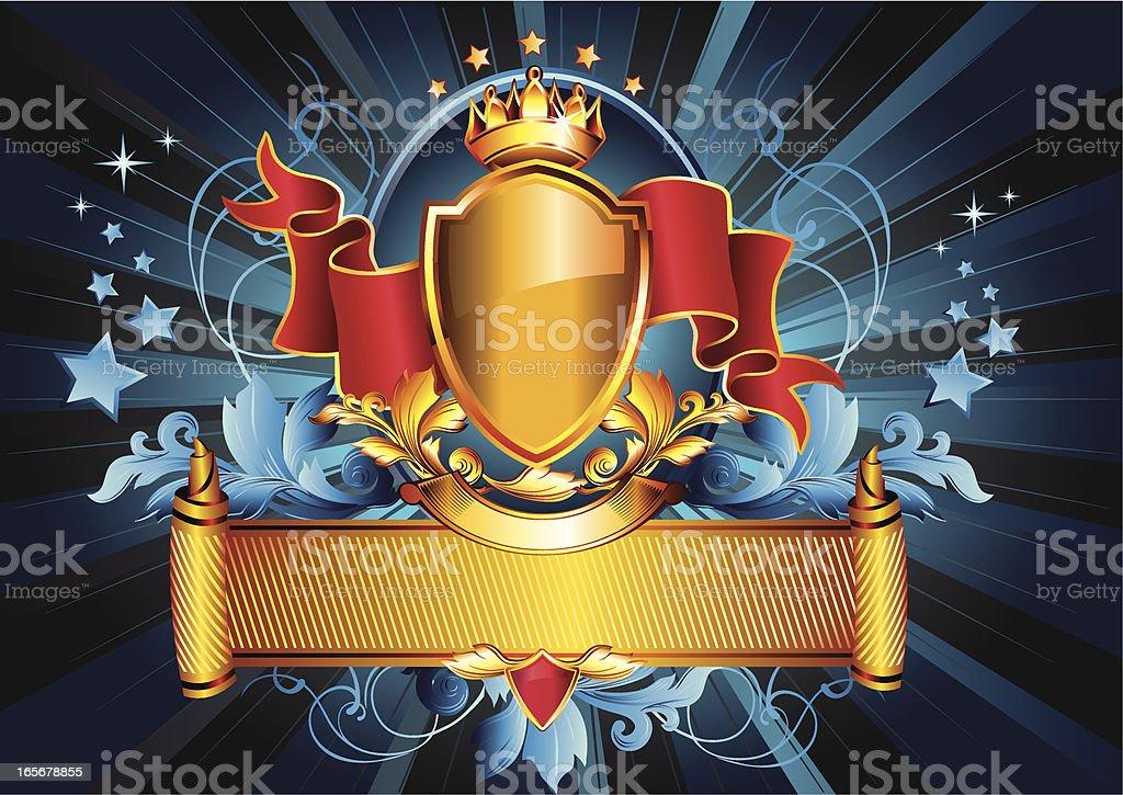 Royal Emblem royalty-free stock vector art