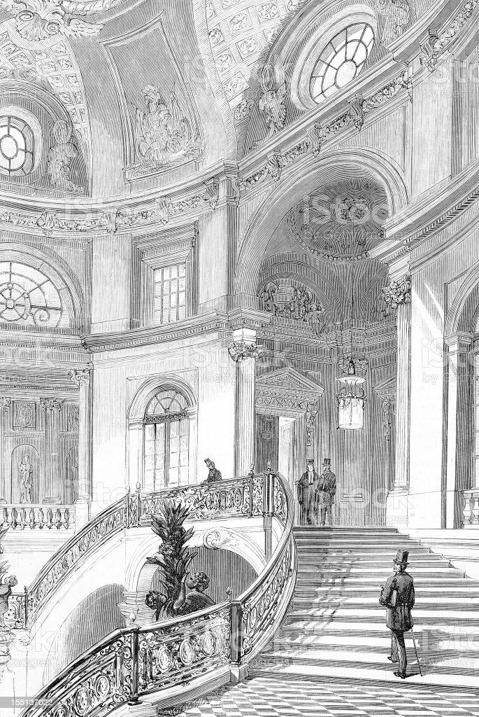 Royal palace royalty-free stock vector art