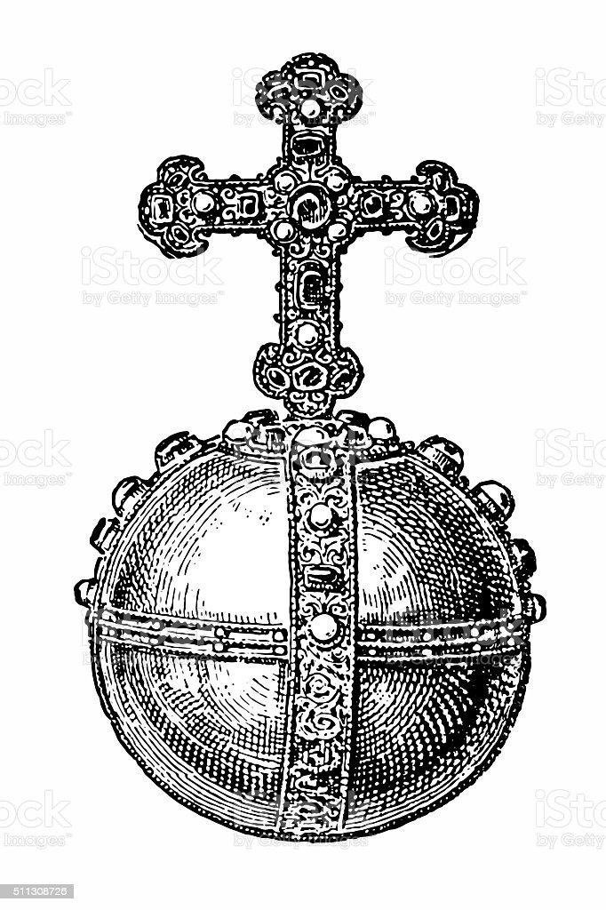 Royal Sovereigns Golden Orb vector art illustration