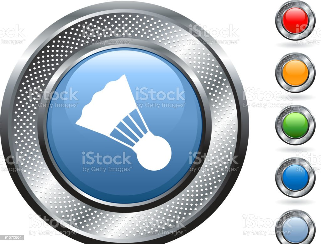 royalty free vector art on metallic button royalty-free stock vector art