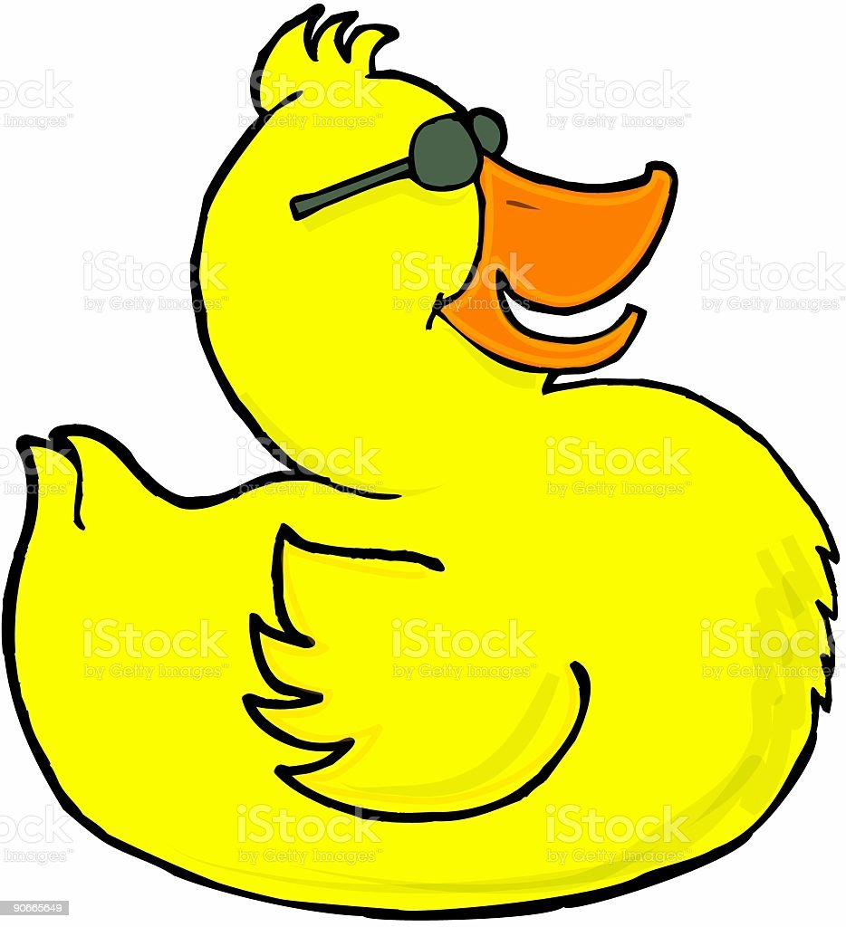 Rubber Ducky 1 royalty-free stock vector art