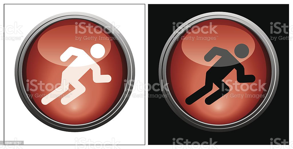 Runner | Glass Collection royalty-free stock vector art