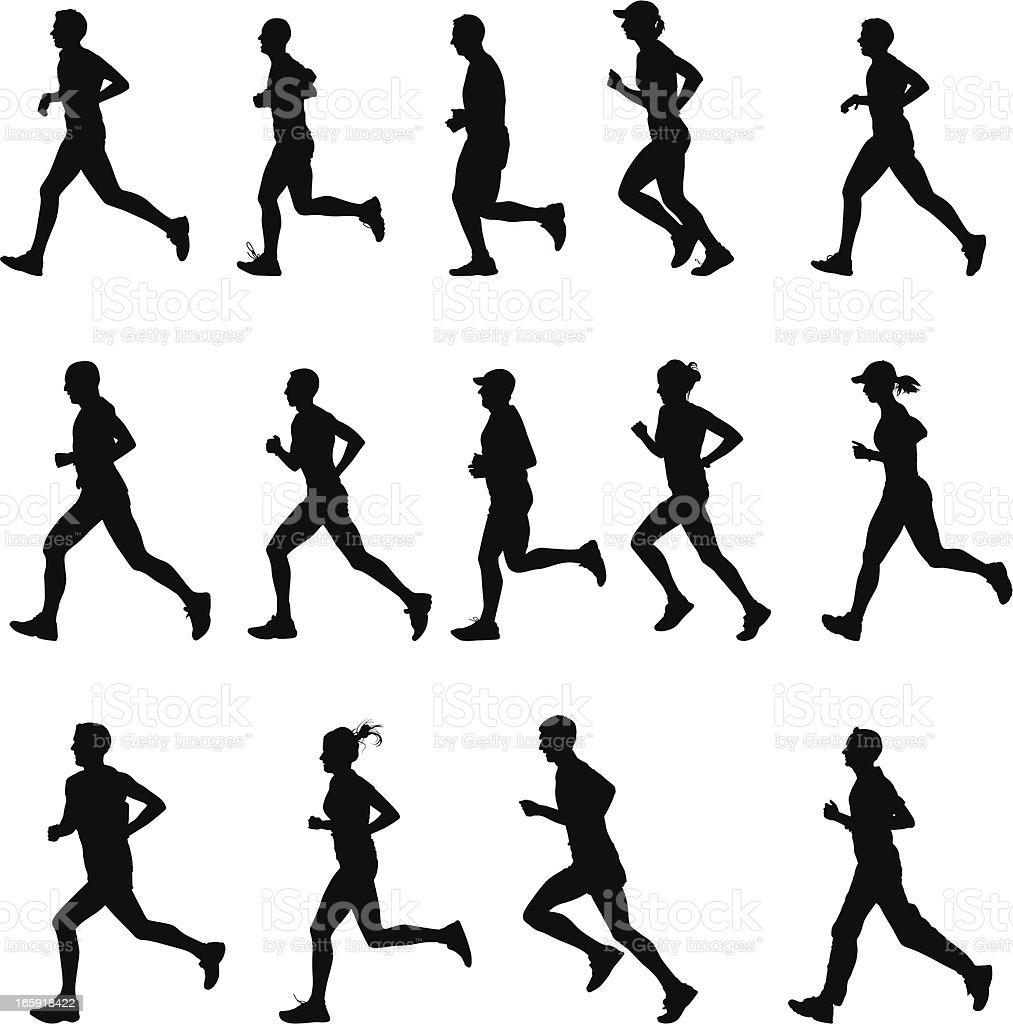 Runners royalty-free stock vector art
