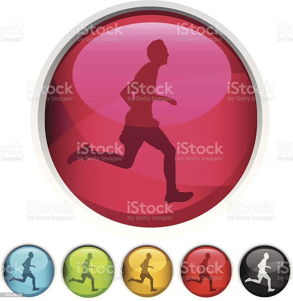 Running Icon royalty-free stock vector art