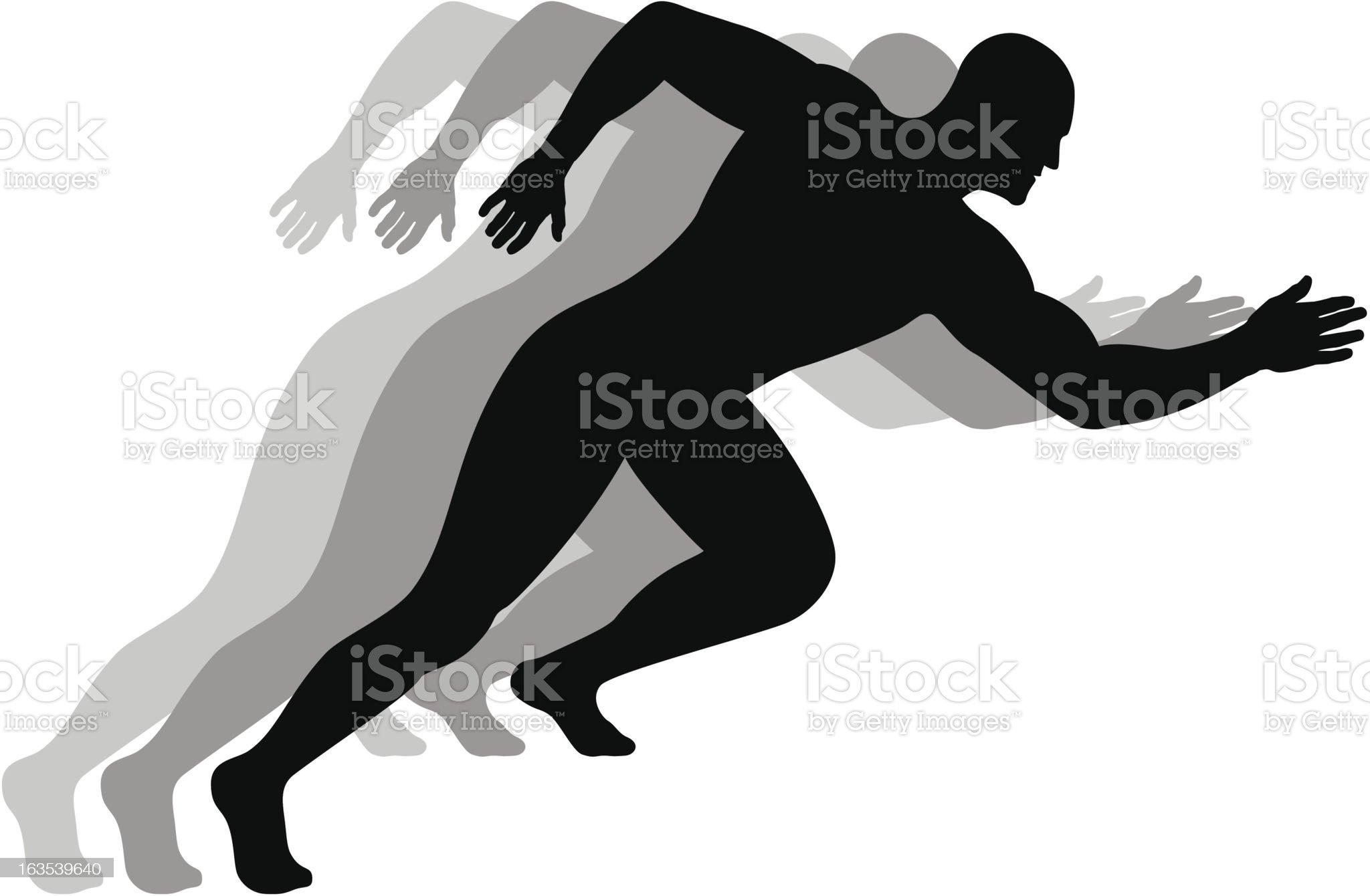 Running man royalty-free stock vector art