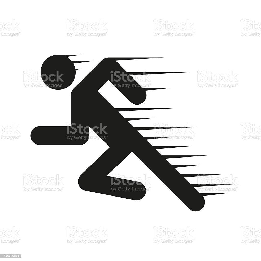 Running people in motion vector art illustration