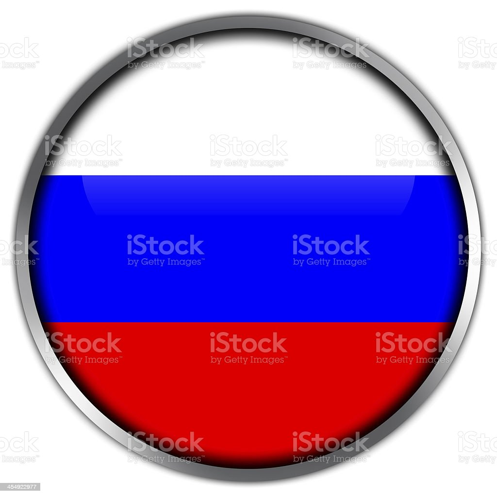 Russia Flag glossy button royalty-free stock vector art