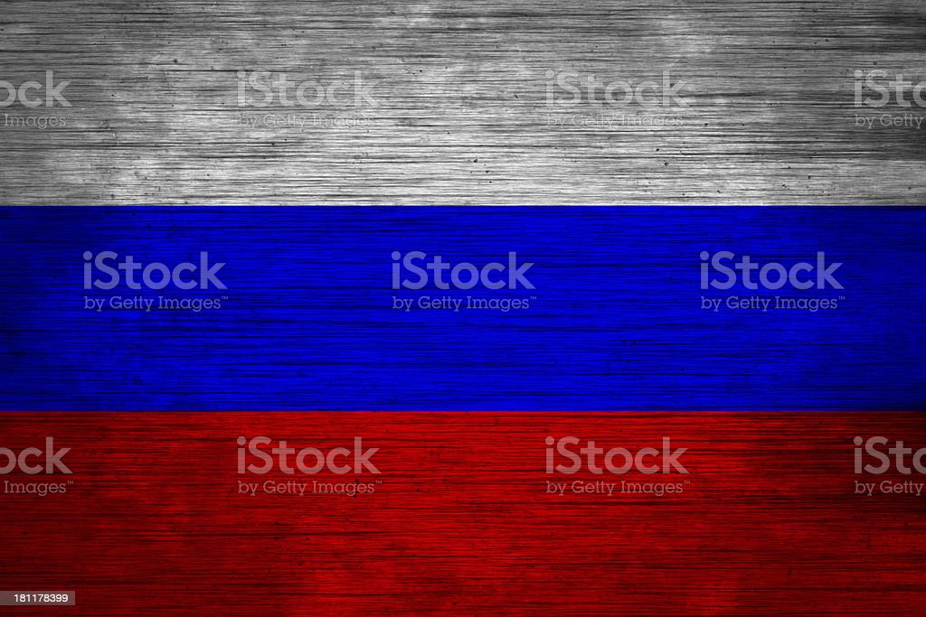 russia flag  wood texture royalty-free stock vector art