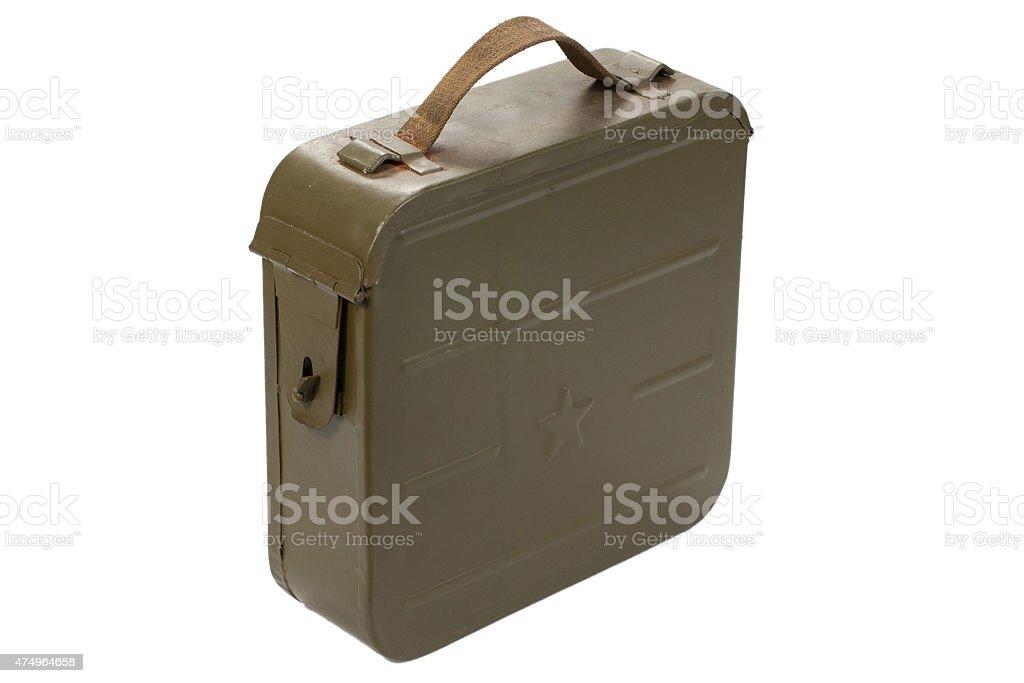 russian ammo case on white background vector art illustration