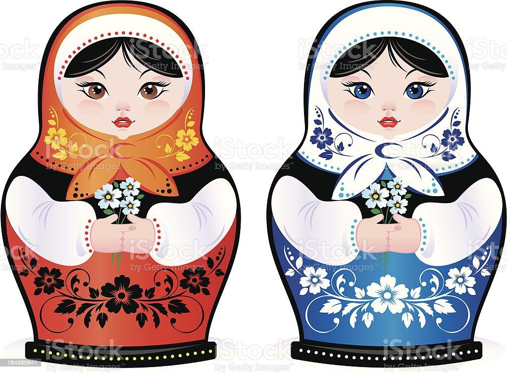 Russian beauty royalty-free stock vector art