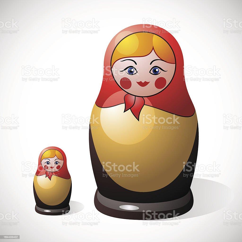 Russian doll vector art illustration