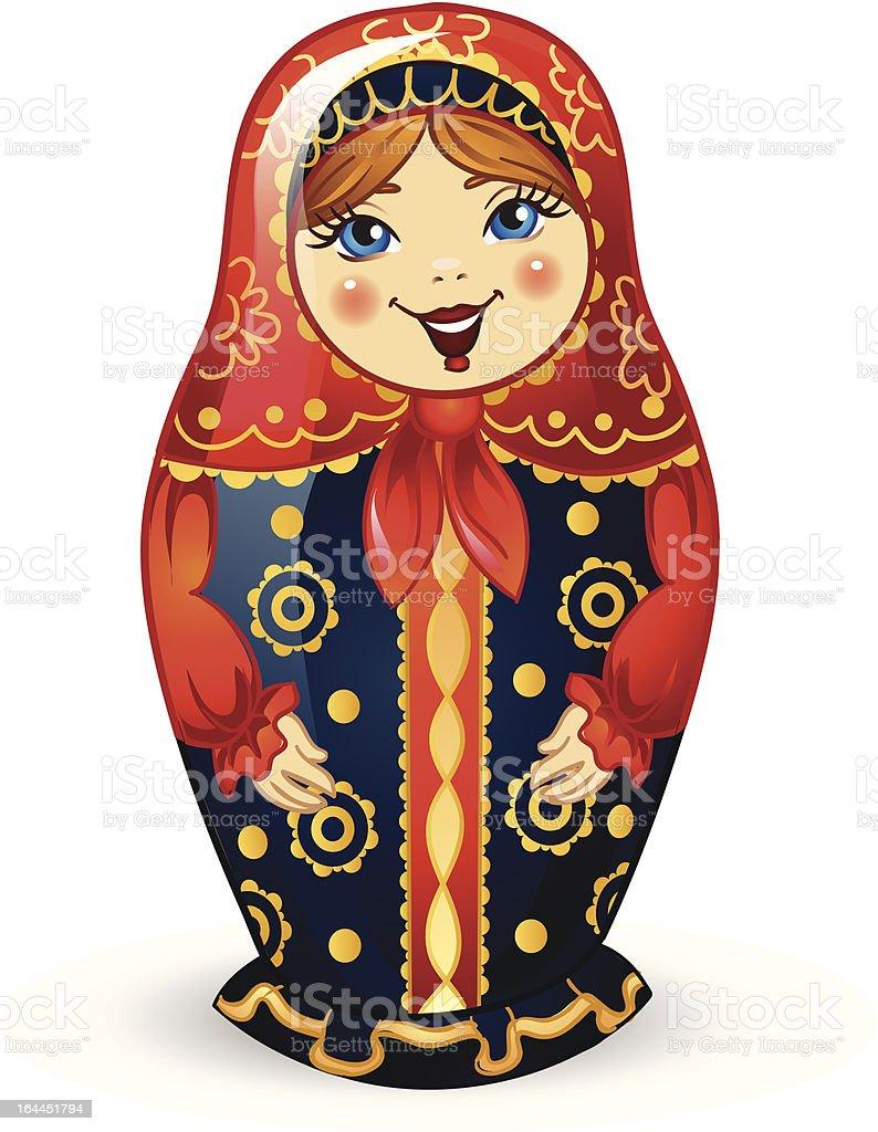 Russian Doll Matrioshka royalty-free stock vector art