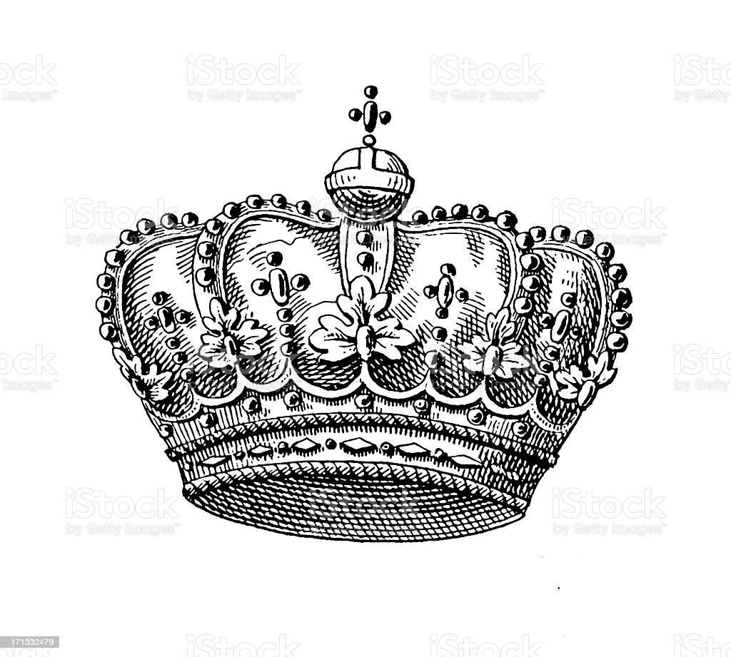 Russian Imperial Crown | Historic Symbols of Monarchy and Rank royalty-free stock vector art