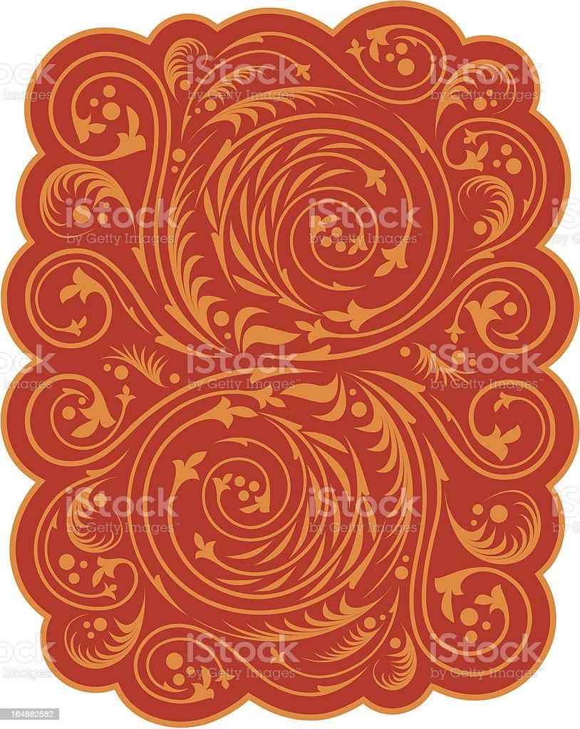 Russian ornament royalty-free stock vector art