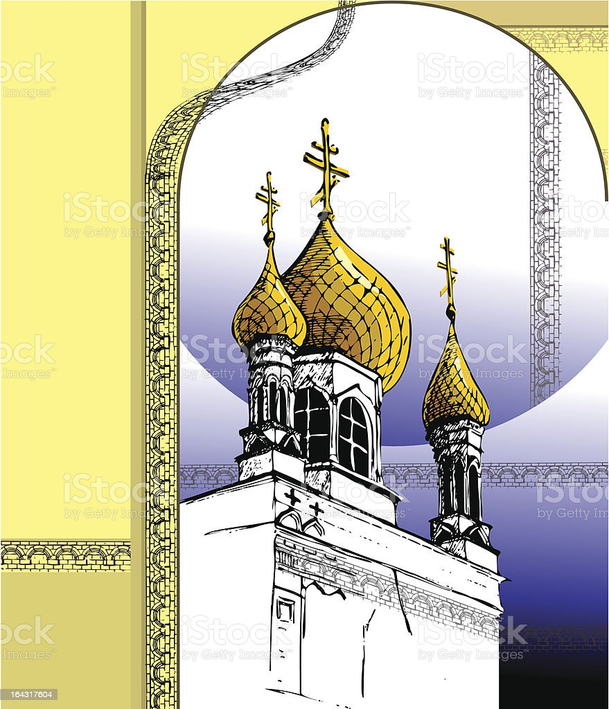 Russian orthodox church royalty-free stock vector art