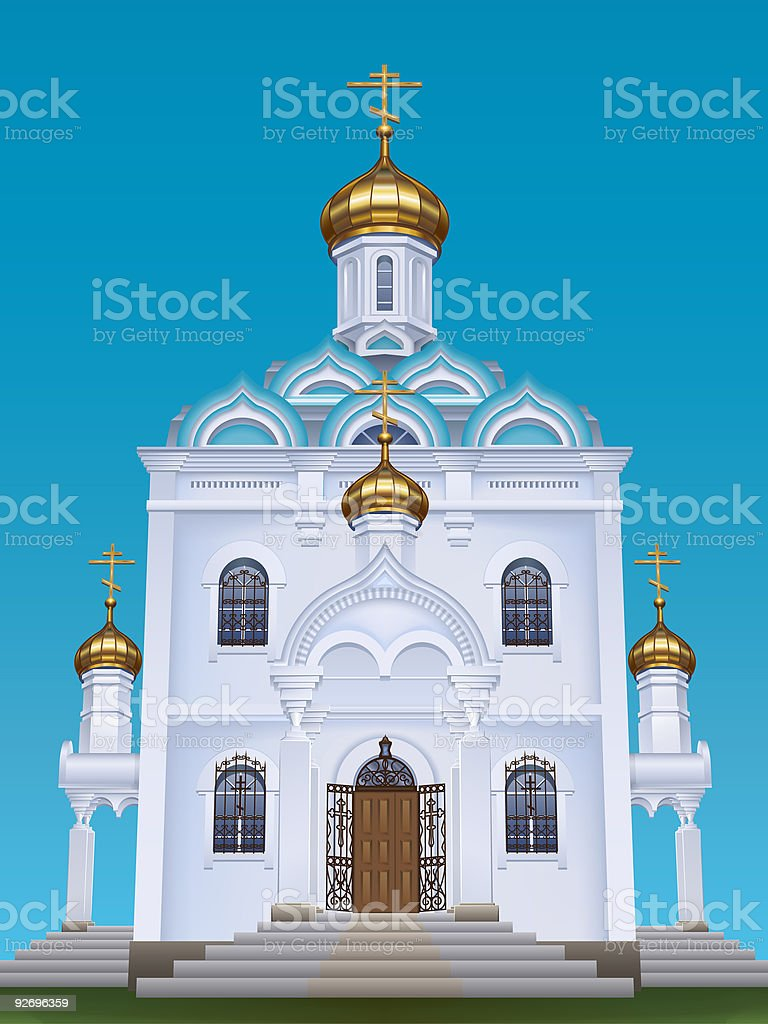 Russian orthodox church royalty-free stock vector art