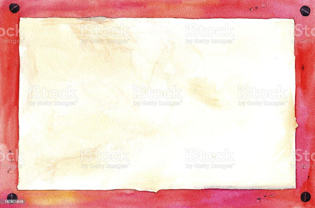 Rusty Red Grunge Border royalty-free stock vector art