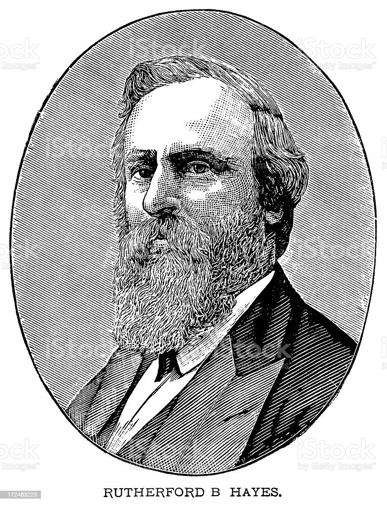 Rutherford B. Hayes royalty-free stock vector art