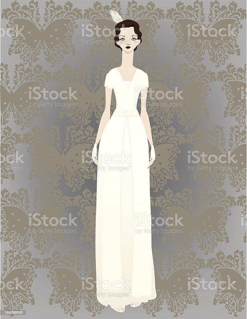 1940's Bride royalty-free stock vector art