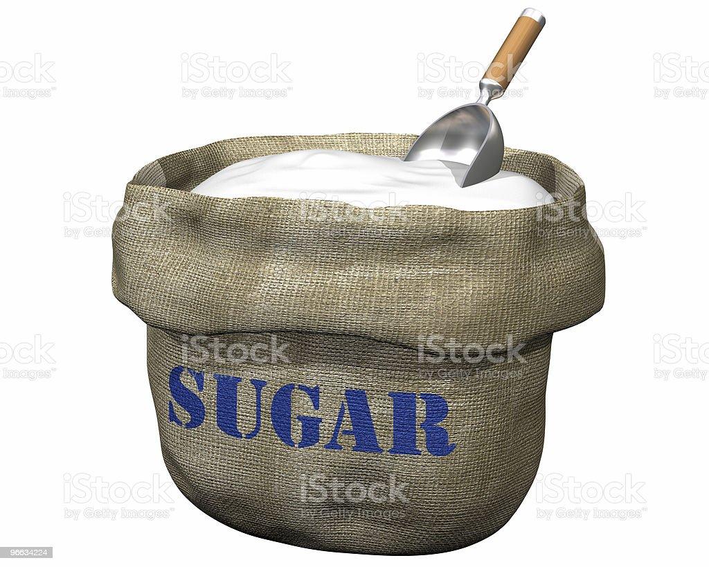 Sack of sugar vector art illustration