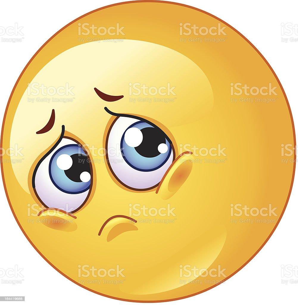 Sad emoticon vector art illustration