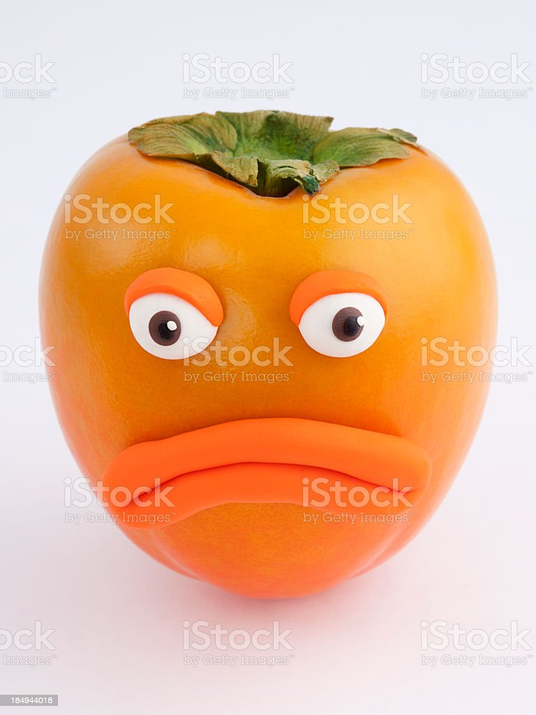 Sad Persimmon royalty-free stock vector art