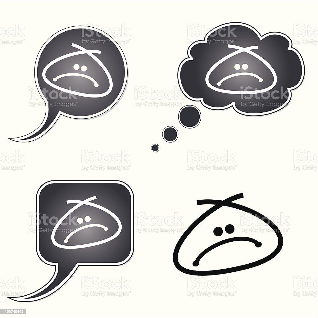 Sad Talk Smiley Series royalty-free stock vector art