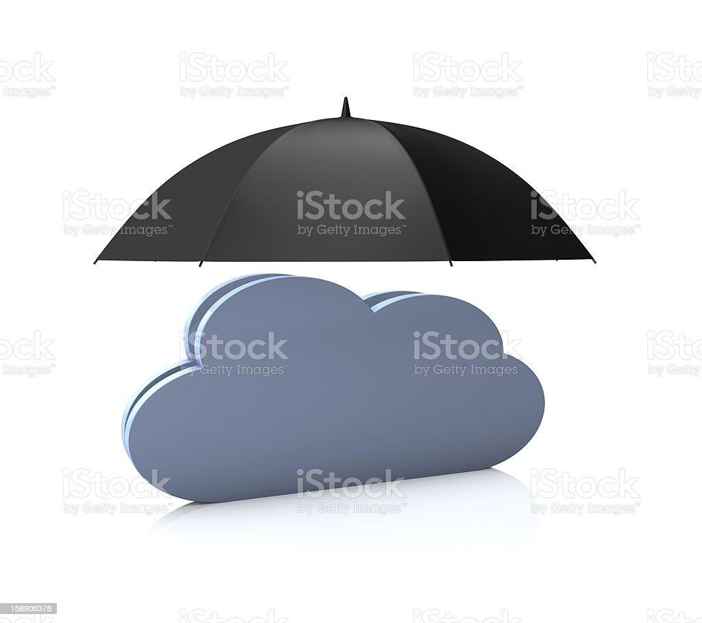 Safe Cloud Computing royalty-free stock vector art