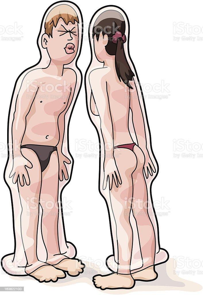 Safe Sex royalty-free stock vector art