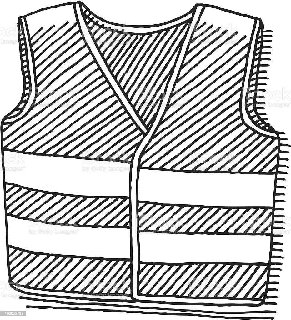 Safety Vest Drawing royalty-free stock vector art