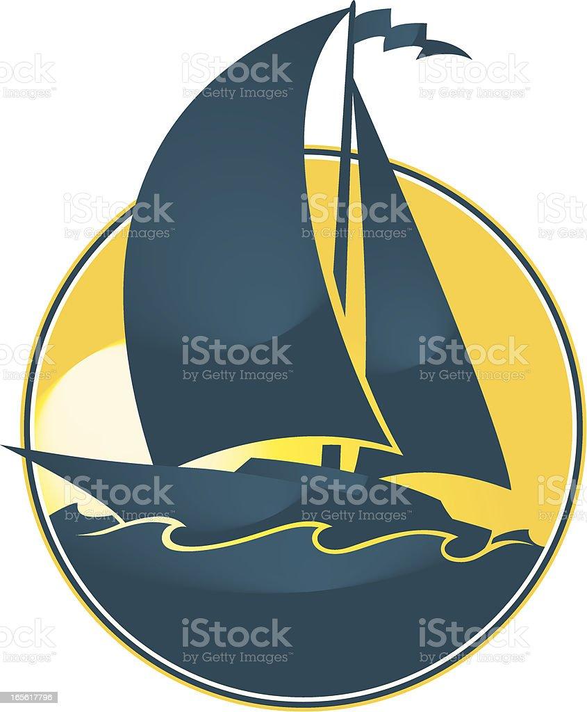 sail boat vector art illustration