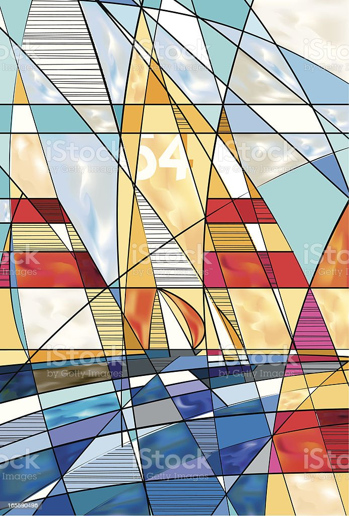 I Sail With Every Wind vector art illustration
