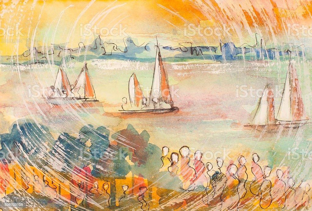 Navegación las parejas illustracion libre de derechos libre de derechos