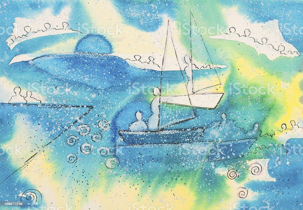 Navegación en azul illustracion libre de derechos libre de derechos