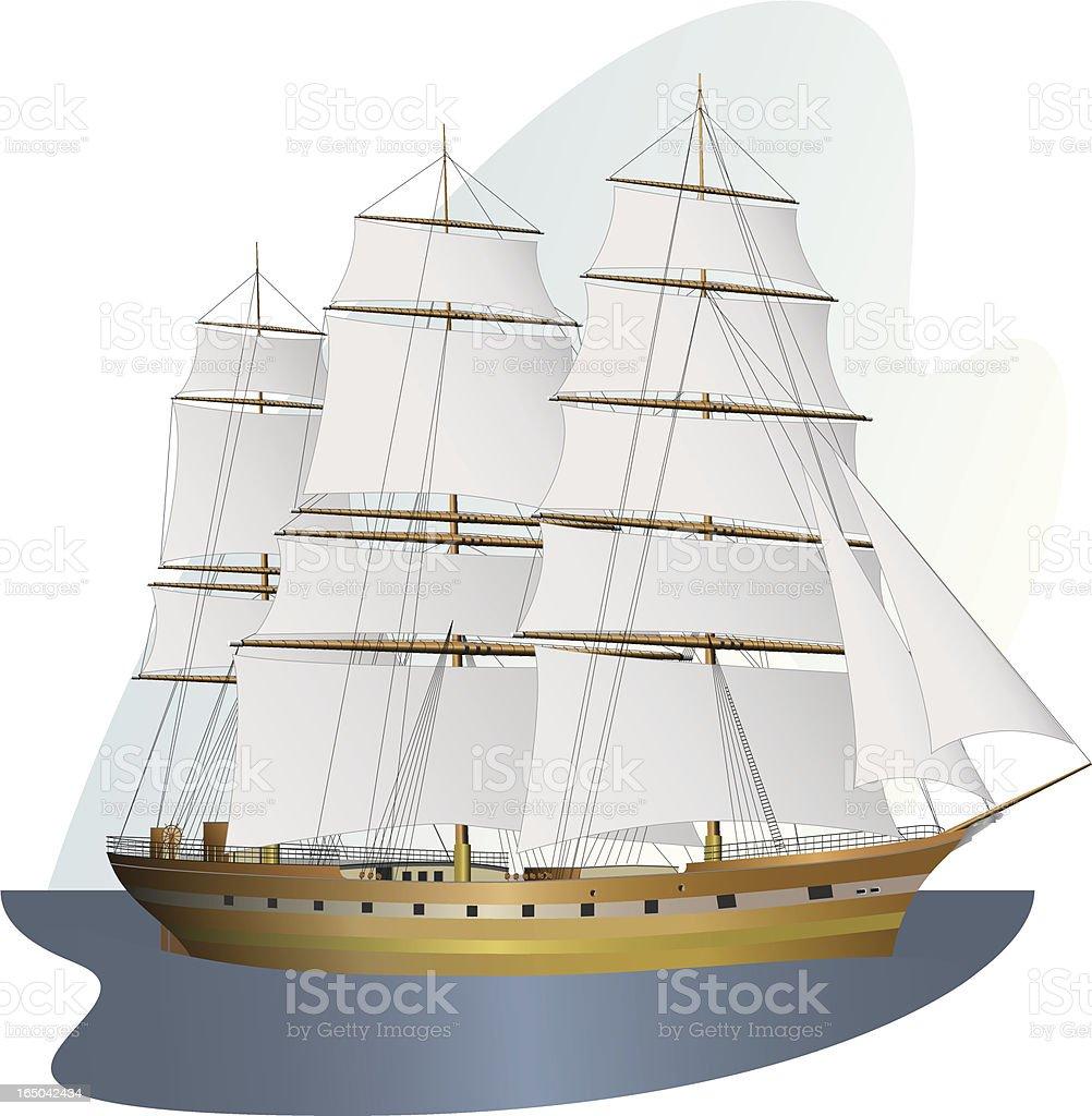 sailing ship royalty-free stock vector art