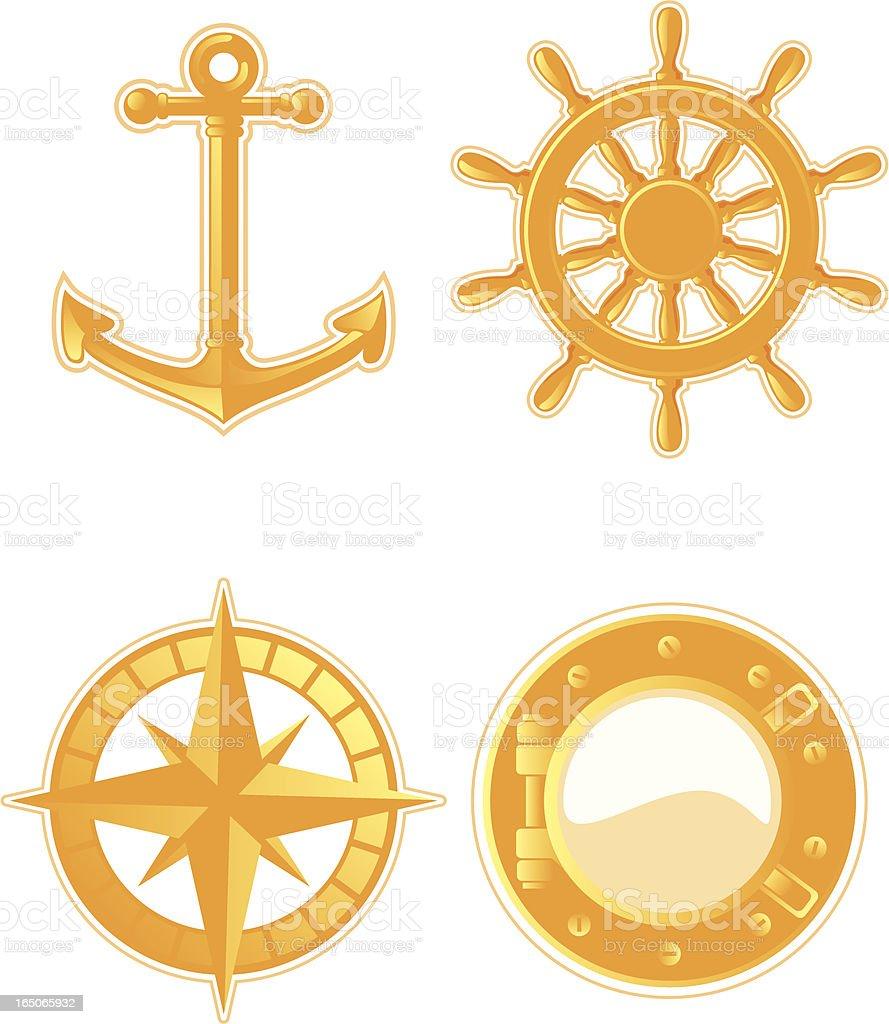 sailing stuff vector art illustration
