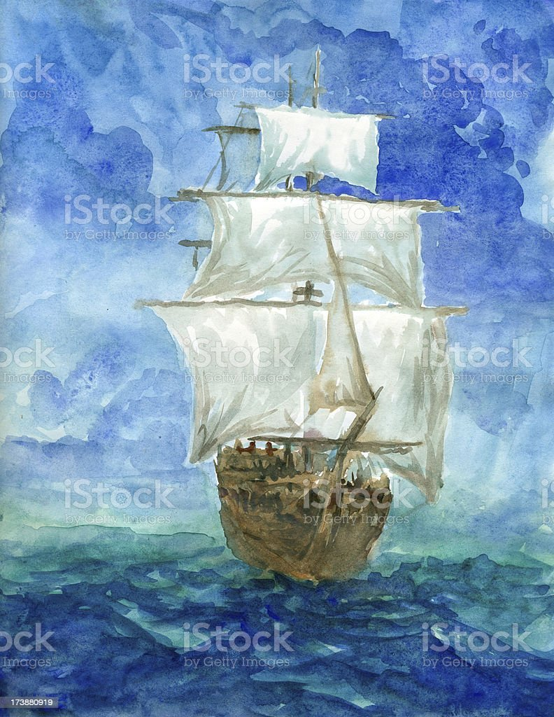 sailing vessel royalty-free stock vector art