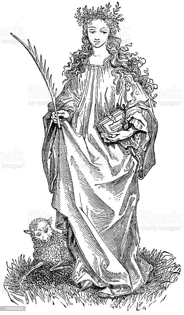 Saint Agnes royalty-free stock vector art