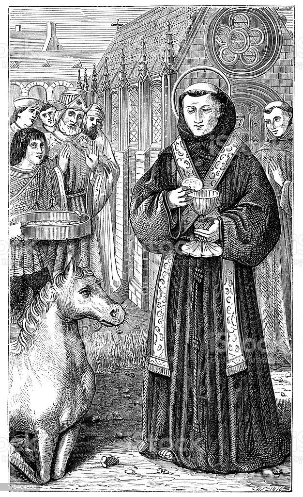 Saint Anthony of Padua royalty-free stock vector art